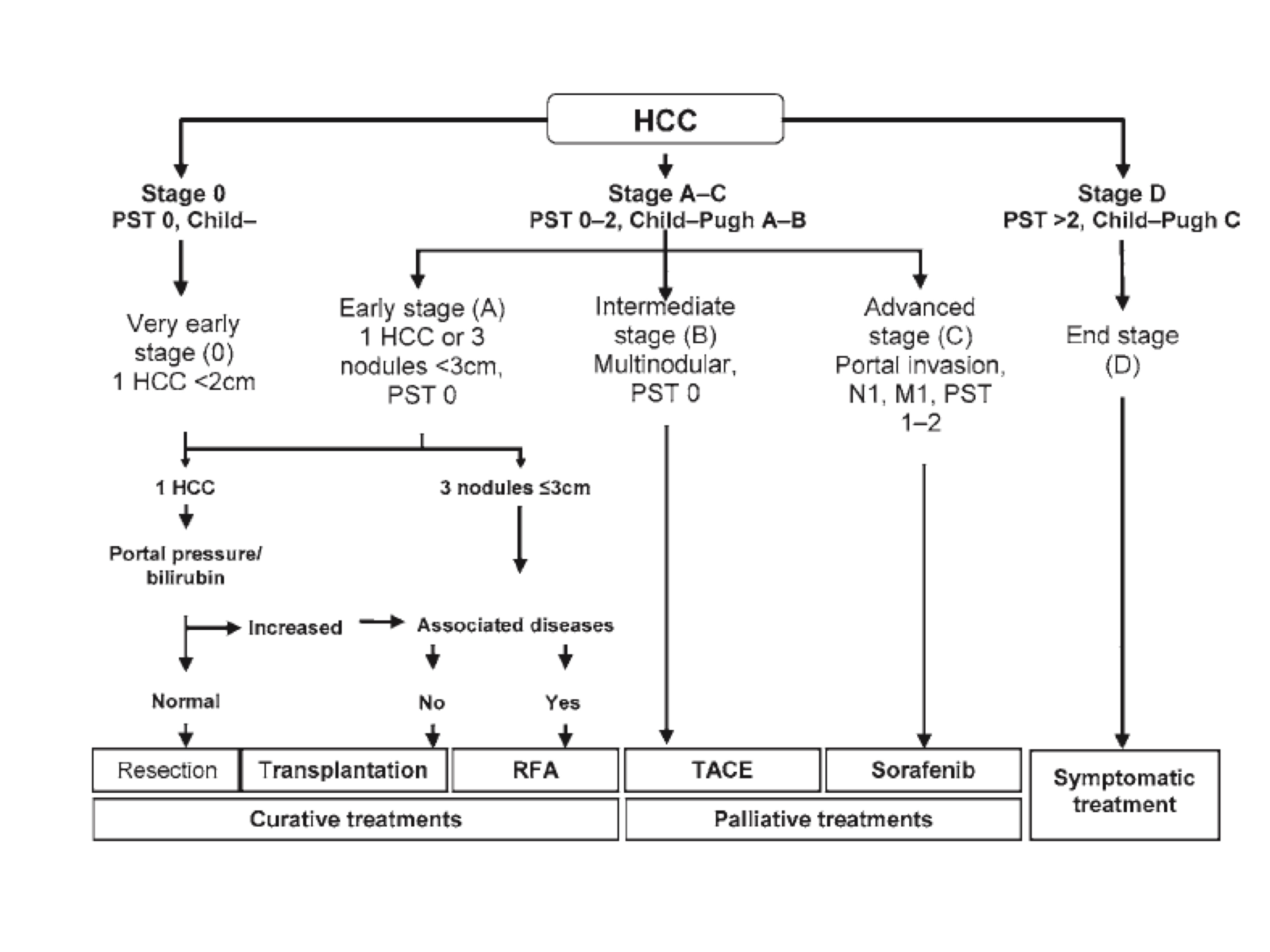 hepatic cancer staging