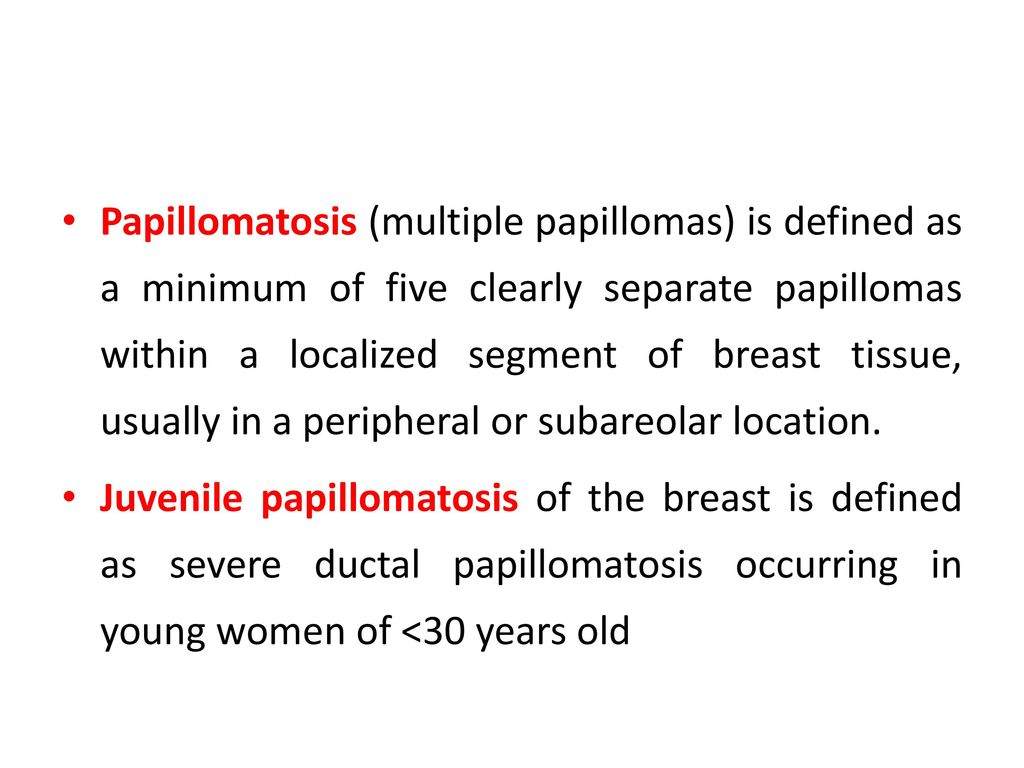 multiple peripheral papillomas breast cervical cancer staging