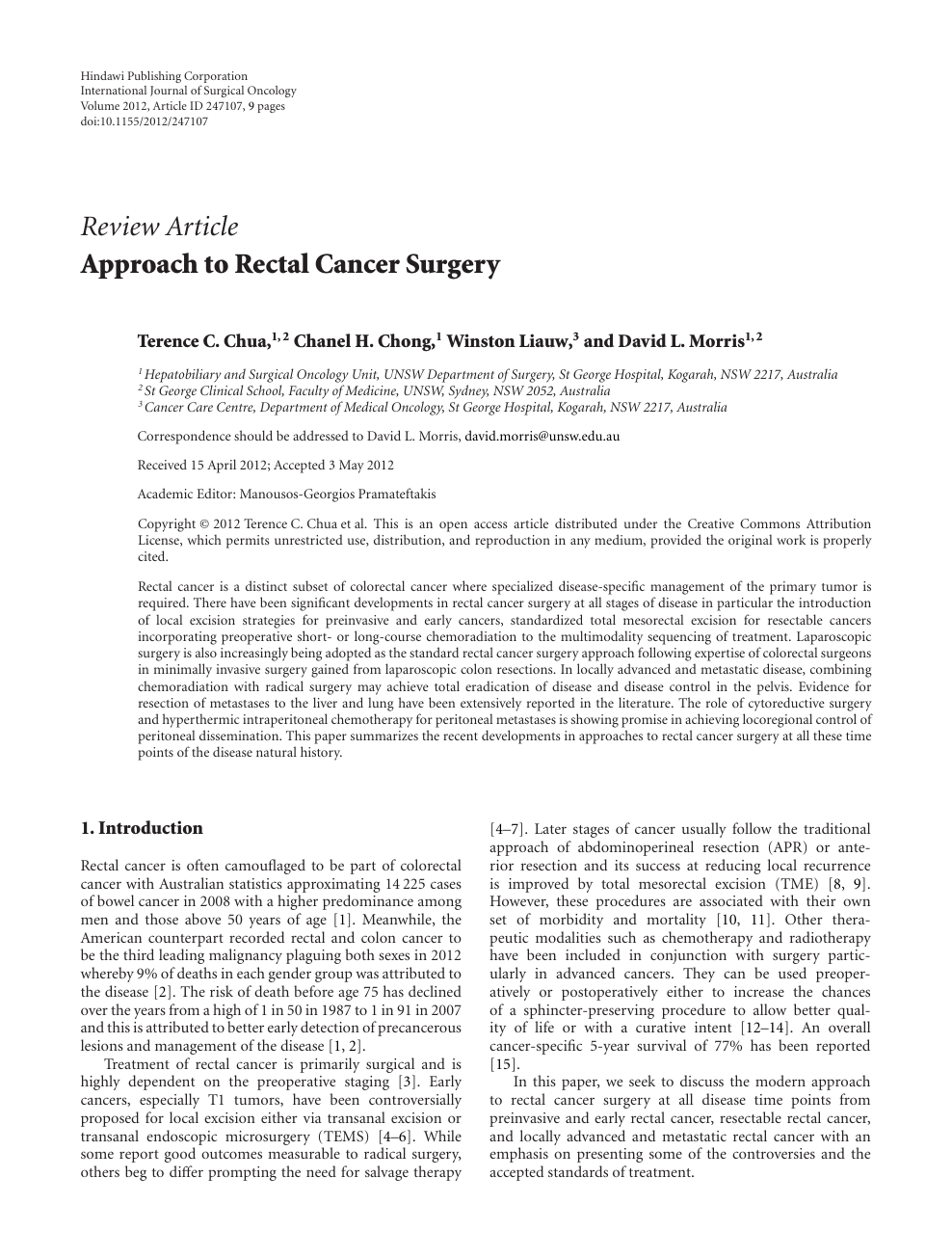 colorectal cancer journal articles
