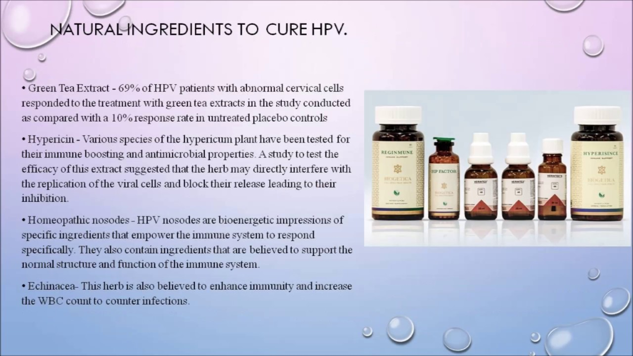 hpv treatment supplements