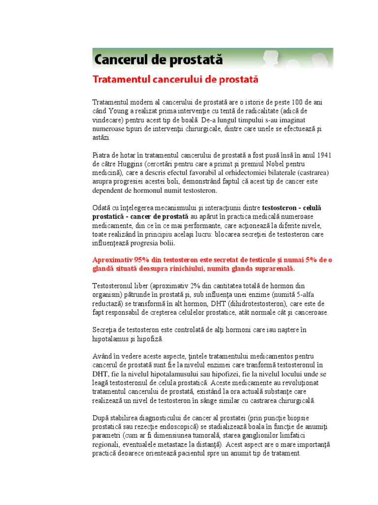 cancerul de prostata tratament hormonal condyloma acuminatum risk factors