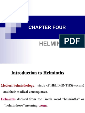 what does helminth mean in greek
