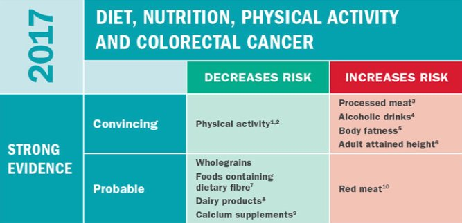 colorectal cancer and nutrition hpv krebs manner symptome