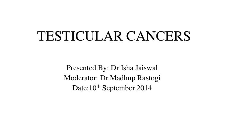 cancer testicular slideshare