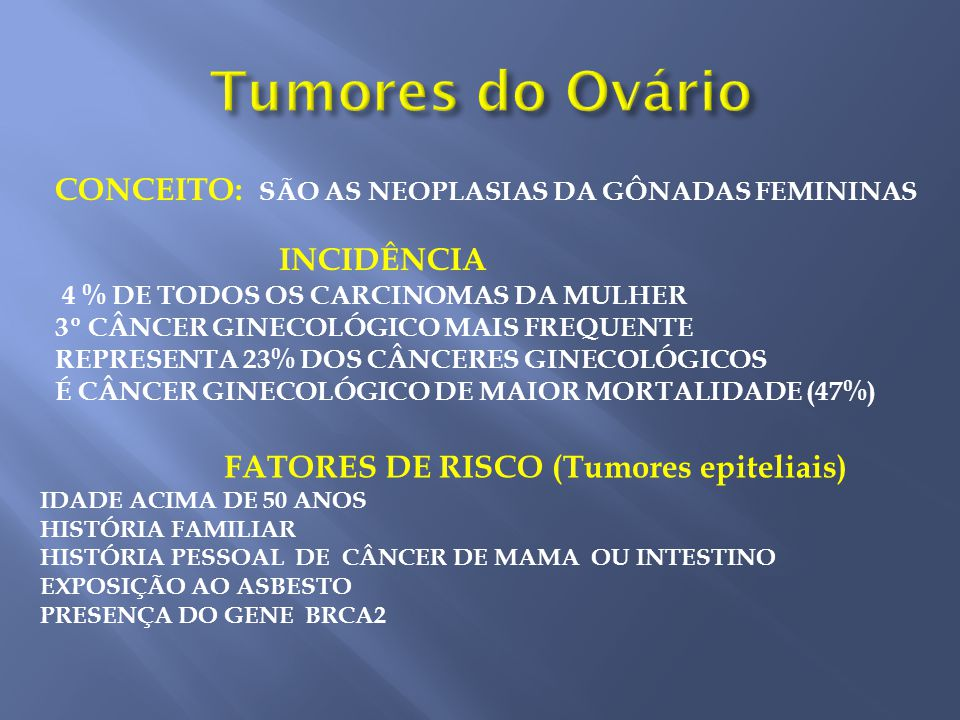 cancer epitelial de ovario slideshare cancer de colon en mujeres sintomas