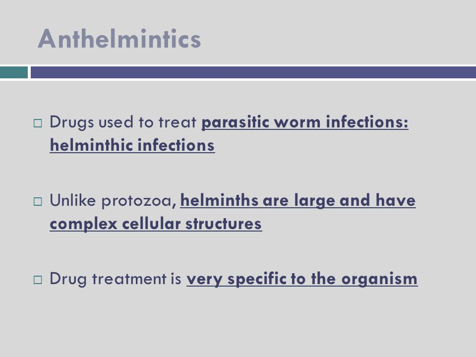 how do anthelmintic work