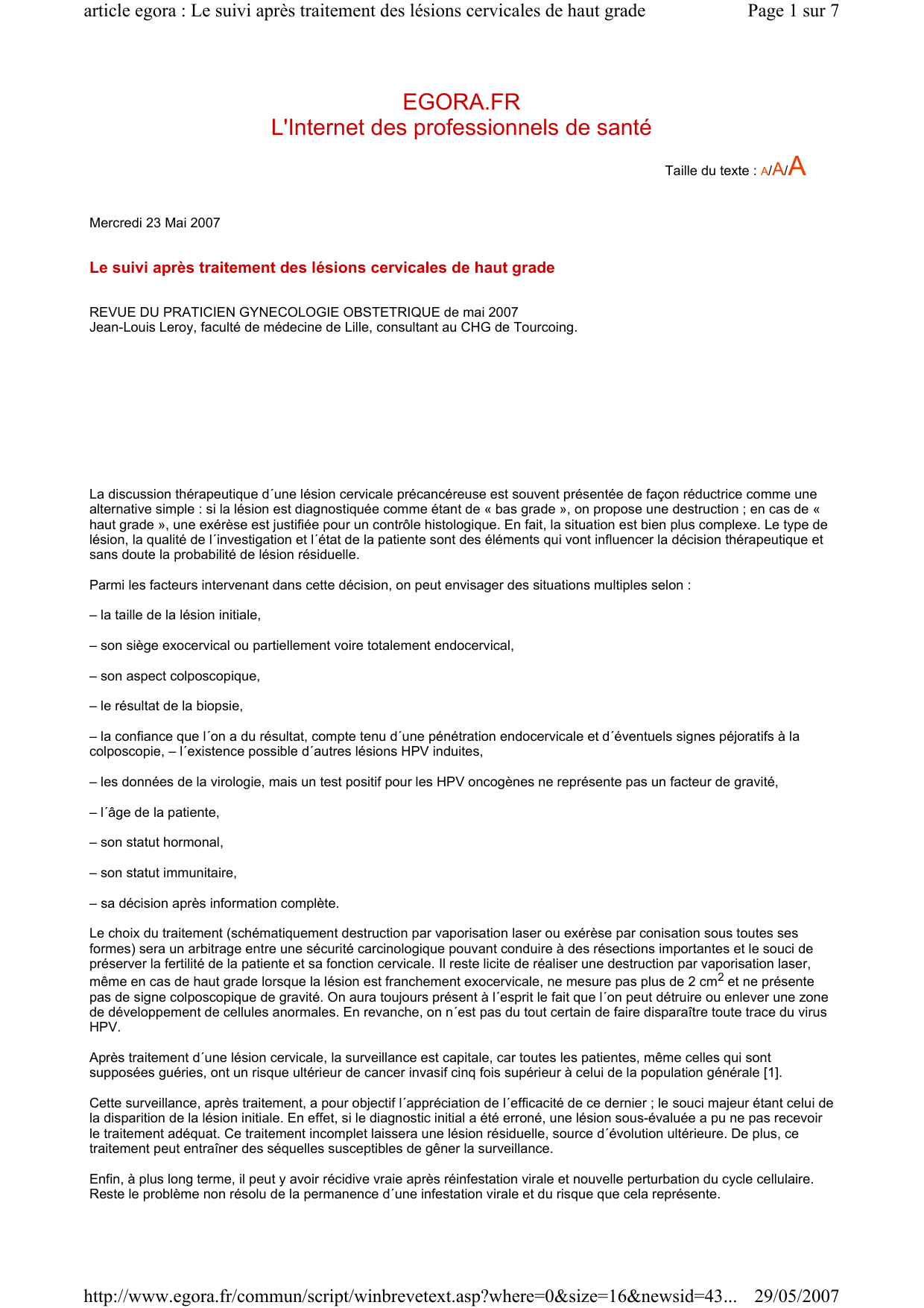 hpv apres hysterectomie